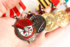 Medals of World War II Royalty Free Stock Photo