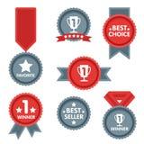 Medalu i zwycięzcy ikony set Fotografia Stock
