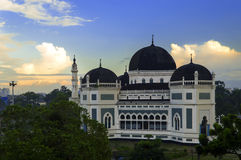 Medan's Great Mosque at Morning. Stock Photography