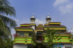 Medan's Unusual Mosque Al-Fath. Royalty Free Stock Image