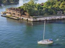 Medan segla i Venedig Arkivbild