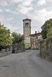 Medana bymitt i västra Slovenien, Brda region Royaltyfria Foton