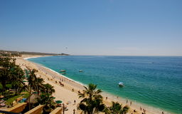Medano Beach Los Cabos Mexico. Los Cabos most famous beach shot from Estancia pent house royalty free stock photo