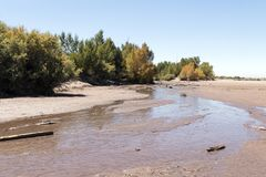 Medano Creek dried up Royalty Free Stock Photo