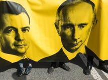 Medborgare i den politiska demonstrationen för Maj dag Fotografering för Bildbyråer