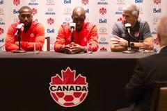 Medborgare Team Media Conference för ` s för Kanada fotbollmän i Toronto Royaltyfria Bilder
