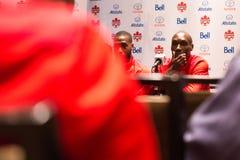 Medborgare Team Media Conference för ` s för Kanada fotbollmän i Toronto Royaltyfri Foto