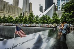 MedborgareSeptember 11th minnesmärke, New York royaltyfria foton