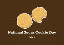 MedborgareSugar Cookie Day vektor stock illustrationer