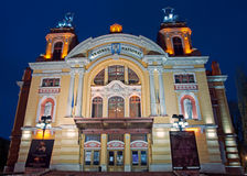 MedborgareTheatre av Cluj-Napoca, Rumänien Arkivbilder