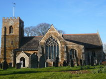 Medbourn church. Royalty Free Stock Images
