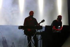 Medbrottslingangelägenheten bor på den internationella multimediapresentationen - omgivande festival Gorlice poland Arkivfoton