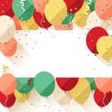 Meddelande/affisch/reklamblad för lycklig födelsedag stock illustrationer