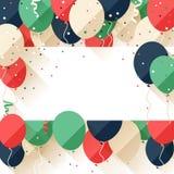 Meddelande/affisch/reklamblad för lycklig födelsedag royaltyfri illustrationer