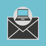 Meddelande för informationsblad för bärbar datordator Arkivfoton
