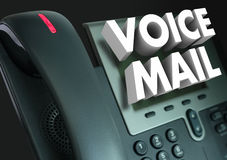 Meddelande för ord för stämmapost 3d antecknat telefon Arkivbild