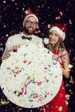Meddelande för parti för ` s för nytt år Royaltyfri Fotografi