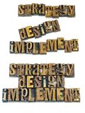 Meddelande för planläggning för verktyg för strategidesign royaltyfria bilder