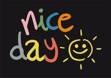 Meddelande för trevlig dag royaltyfri illustrationer