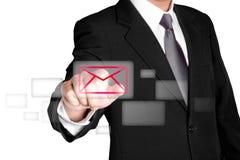 meddelande för affärskommunikation Arkivfoto