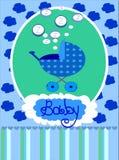 meddelandeankomsten behandla som ett barn pojkekortet vektor illustrationer