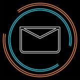 Meddelandesymbol, kuvertillustration - vektorpost royaltyfri illustrationer