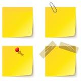 meddelandet papers yellow Royaltyfri Bild