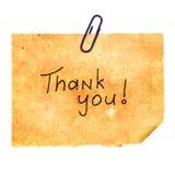 meddelandet tackar dig Royaltyfria Foton