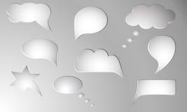 Meddelandevektorsymboler Arkivbilder