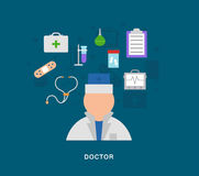 Medecal doctor icons Royalty Free Stock Image