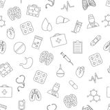 Medecical icons pattern Royalty Free Stock Photo