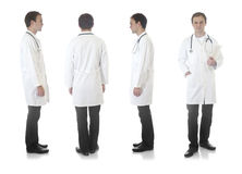 Medecin view under different angles. On a white back ground royalty free stock photography