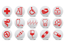 Medecine buttons Stock Image