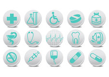 Medecine buttons. Vector illustration of medecine buttons .You can use it for your website, application or presentation Stock Photos
