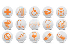 Medecine buttons. Vector illustration of medecine buttons .You can use it for your website, application or presentation Royalty Free Stock Photography