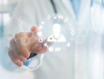 Medecine i ogólna opieki zdrowotnej ikona wystawiający na technologii ja Obrazy Stock