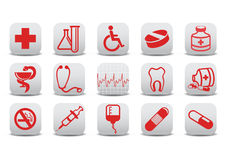 Medecine icons Royalty Free Stock Photography