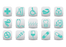 Medecine icons Royalty Free Stock Photos