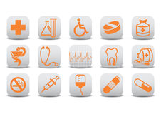 Medecine icons Stock Photos