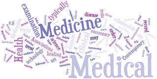 Medecine word cloud Stock Image