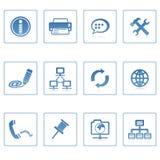 Mededeling & Internet pictogram stock foto's