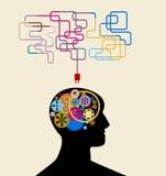 Mededeling en ideeën vector illustratie
