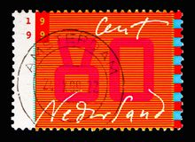 Mededeling: handschrift en gestileerde monitor, Tien voor Brieven royalty-vrije stock afbeelding