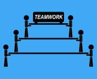 Mededeling van het de illustratie de vectoridee van het teamwerk samen Royalty-vrije Stock Fotografie