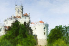 Medeival castle reflection on water Royalty Free Stock Photo