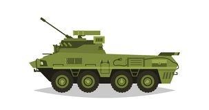 Medel för bepansrat infanteri Utforskning kontroll, optisk granskning, harnesk, skydd, vapen, ammo Utrustning för kriget Attacken vektor illustrationer