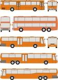 medel för bussillustrationvektor stock illustrationer
