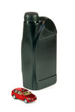 medel för kanistermotorolja Arkivfoto
