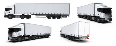 medel för lastbil för lastsamlingsleverans Royaltyfri Fotografi