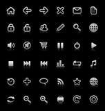 medel för samlingssymbolsinternet Arkivfoto